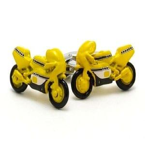 Yellow Motorbike Cufflinks