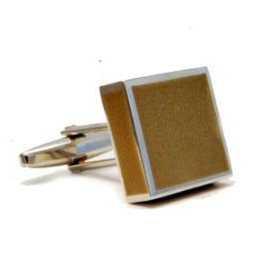 Brown Square Cufflinks