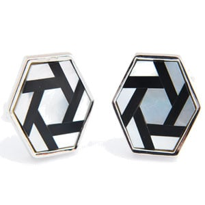 Mother of Pearl - Hexagon Cufflinks