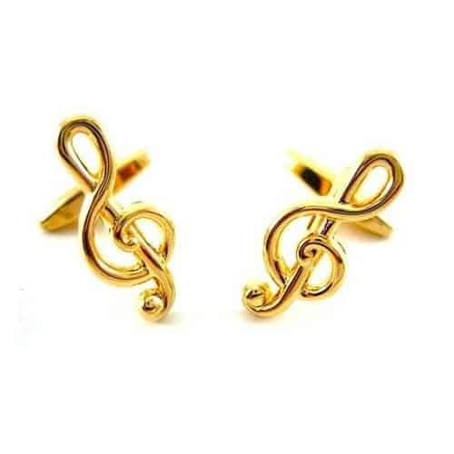 Gold Musical Clef Cufflinks
