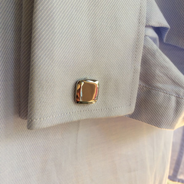 Stainless Steel Rounded Square Cufflinks