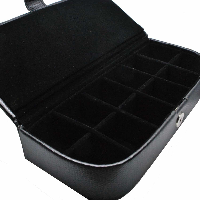 Black Leatherette Cufflink Storage Case