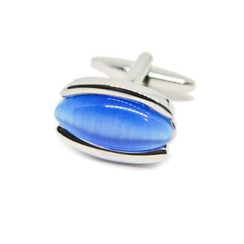 Blue Cats Eye - Oval Cufflinks