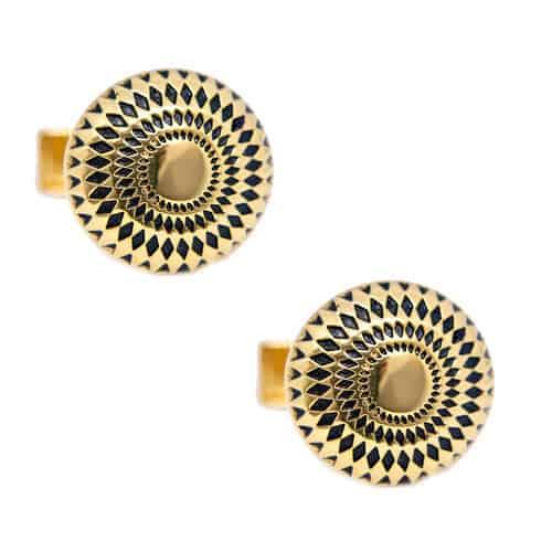 Gold Patterned Cufflinks