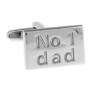 Silver No 1 Dad Cufflinks The Cufflink Club